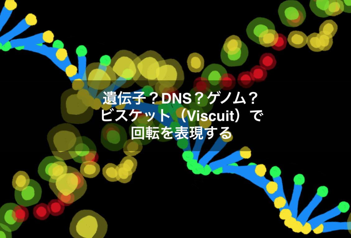 遺伝子?DNS?ゲノム? ビスケット(Viscuit)で 回転を表現する