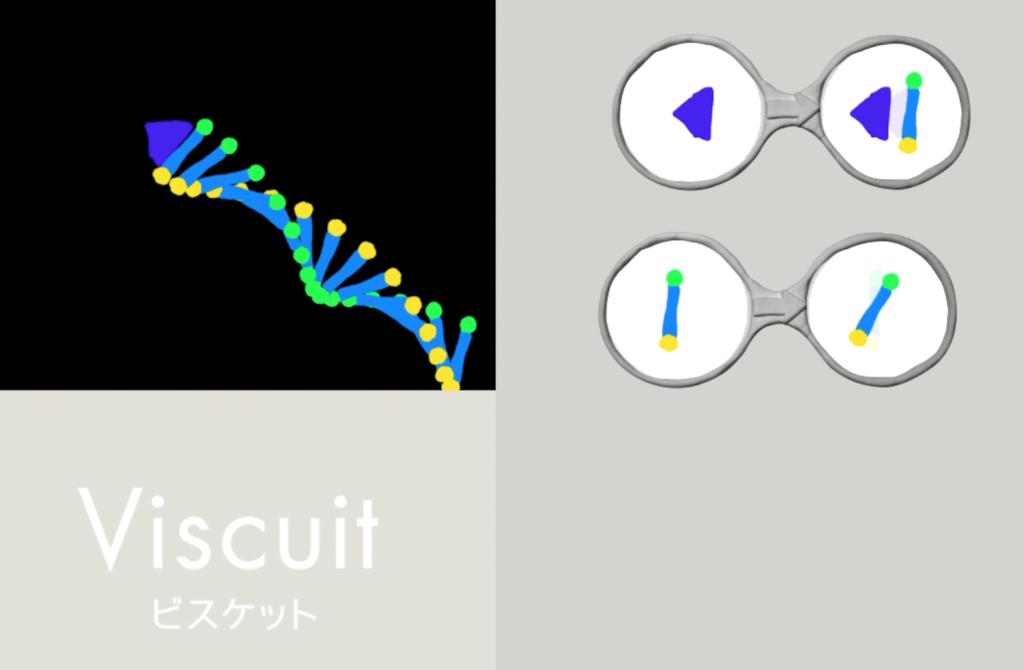 ビスケット(viscuit)三角が動いたら棒が生まれて回転する動き