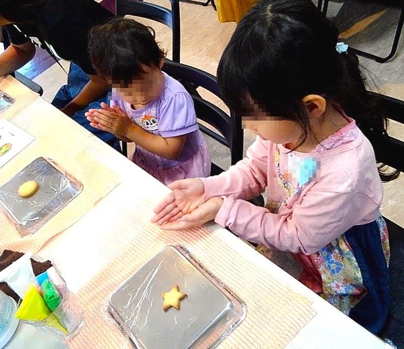 アイシングクッキー作り 大阪キャリナリー製菓専門学校 学園祭